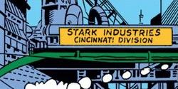 Stark Industries Cincinnati Division from Iron Man Vol 1 62 001.png