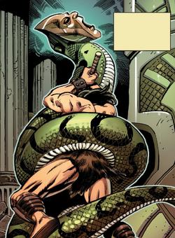 Sschaarronn (Earth-616) and Conan (Earth-616) from Conan Serpent War Vol 1 1 001.png