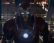 Anthony Stark (Earth-199999) with Iron Man Armor MK XVI (Earth-199999) from Iron Man 3 (film) 001.jpg