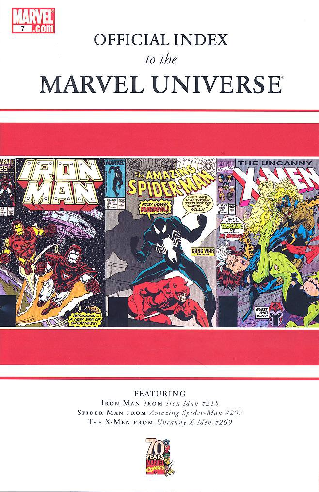 Official Index to the Marvel Universe Vol 1 7