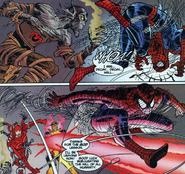 Yoshihiro Hachiman (Earth-616) and Peter Parker (Earth-616) from Peter Parker Spider-Man Vol 1 11 001