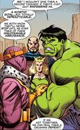 Bruce Banner (Earth-616) and Masters of Evil (Earth-616) from Hulk Smash Avengers Vol 1 1 0001