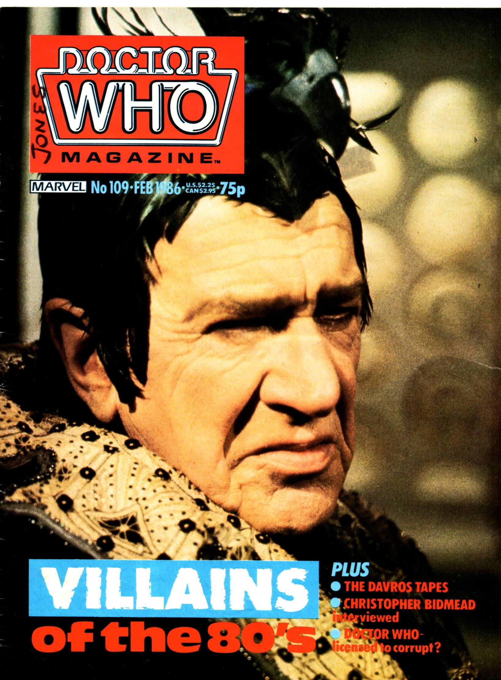 Doctor Who Magazine Vol 1 109