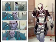Evan Sabahnur (Earth-616) and Wade Wilson (Earth-616) from Uncanny X-Force Vol 1 31 001