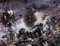 Guardians of the Galaxy & X-Men Black Vortex Alpha Vol 1 1 and Guardians of the Galaxy & X-Men Black Vortex Omega Vol 1 1 Lozano Variant Textless.jpg