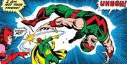 Wanda Maximoff (Earth-616), Vision (Earth-616) and Simon Williams (Earth-616) from Avengers Vol 1 158 001