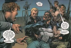 Veronica Crime Family (Earth-7642) and Frank Castle (Earth-7642) from Punisher Painkiller Jane Vol 1 1 001.jpg
