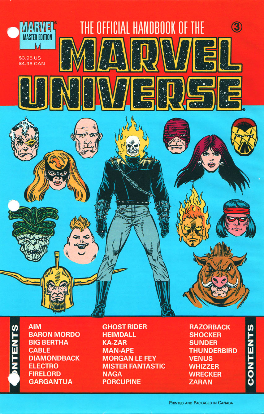 Official Handbook of the Marvel Universe Master Edition Vol 1 3