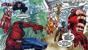 Exemplars (Earth-616) and Peter Parker (Earth-616) from Peter Parker Spider-Man Vol 1 11 001.png