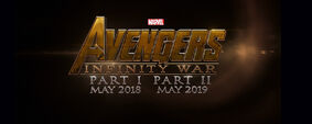 Avengers Infinity War Part I and II logo