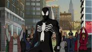 Spiderman poseido por el sinbiont
