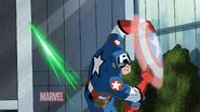 El capitan america en mi seire