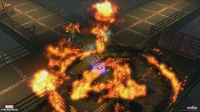 5 combat captain america torch