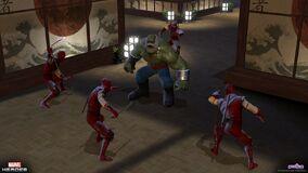 Hand tower hulk maestro ninja rage cu
