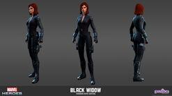 Black Widow Avengers Movie Model