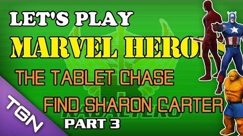 Let's Play Marvel Heroes - The Tablet Chase - Find Sharon Carter (Part 3)