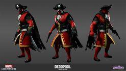 Deadpool Pirate Model