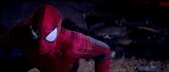 Spider-Man on the ground