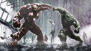 Concept art Iron Man Hulkbuster-vs-Hulk