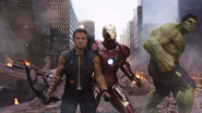 Hawkeye, Iron Man and Hulk