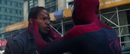 Spider-Man asking Max if he's ok