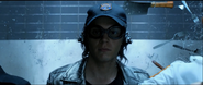 Quicksilver wearing a security hat