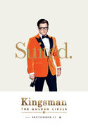 Kingsman The Golden Circle Eggsy character poster