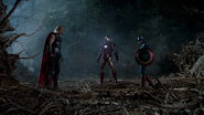 Thor, Iron Man and Captain America