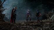 Thor, Iron Man and Captain America