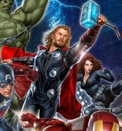 Thor Avengers promo art