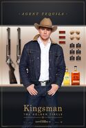 Kingsman The Golden Circle Tequila character poster 2