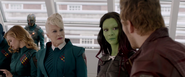 Star-Lord with Gamora and Irani