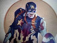 Zombie Captain America concept art