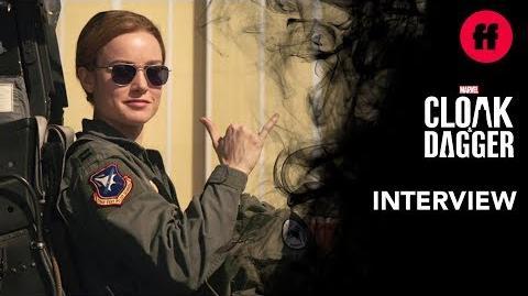 Captain Marvel Interview Brie Larson Describes Her Character's Powers Marvel's Cloak & Dagger