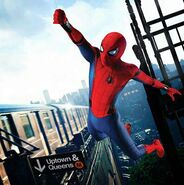 Spiderman uptown swing