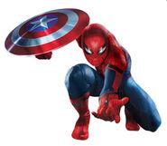 Captain america civil war promoart-spiderman