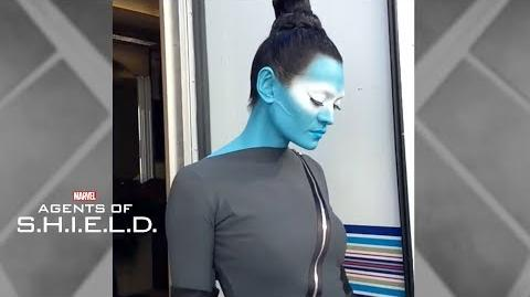 Florence Faivre transforms into Sinara -- Marvel's Agents of S.H.I.E.L.D.
