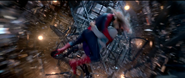 Spider-Man & Gwen falling into the Tower