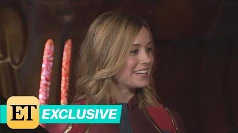 'Captain Marvel' ET Visits the Set With Star Brie Larson! (Exclusive)