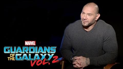Dave Bautista on Marvel Studios' Guardians of the Galaxy Vol