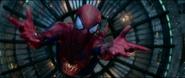 Spider-Man Jumping to catch Gwen