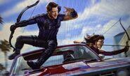 Hawkeye and Kate Bishop concept art