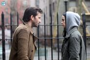 Jessica Jones and Purple Man set photos