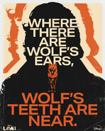 Where There Are Wolf Ears - Wofs Teeth Are Near Poster