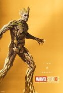 Groot Marvel 10th Anniversary Poster I Am Groot