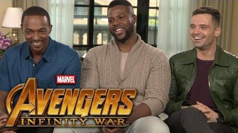 'Avengers Infinity War' Anthony Mackie, Sebastian Stan and Winston Duke (FULL INTERVIEW)