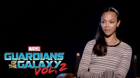 Zoe Saldana on Marvel Studios' Guardians of the Galaxy Vol