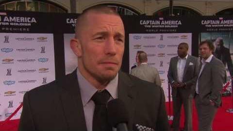 "Captain America The Winter Soldier Georges St-Pierre ""Batroc the Leaper"" Movie Premiere Interview"