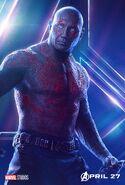 Avengers Infinity War Drax Poster