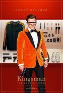 Kingsman The Golden Circle Eggsy character poster 2